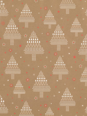 KR490A-XMAS-GOLD-TREES-PAPER