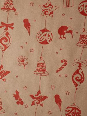 KR951-KRAFT-RED-KIWIANA-BAUBLES-PAPER