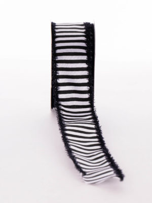 P319C91.38-RIBBON-BLACK-WHITE-STRIPE