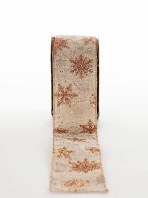 TC-235-KH.60-RIBBON-JUTE-COPPER-SNOWFLAKE