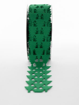XLACN001-RIBBON-GREEN-FELT-XTREES