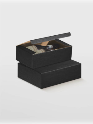 BXF13795-WINE-BOX-FLIP-LID-WITH-POP-UP-2-BOTTLE-BLACK-TEXTURED