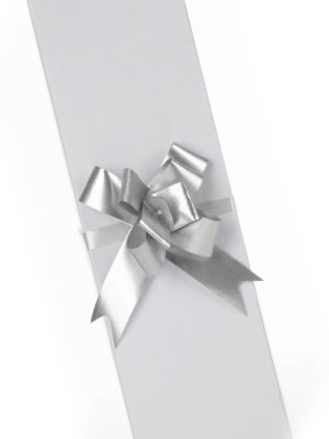 PBOW14.SMT-PULLBOW-MATTE-FINISH-SILVER