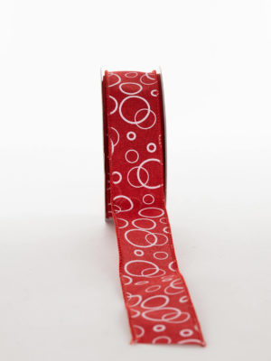 VX103D30.38-RIBBON-JUTE-RED-WITH-WHITE-CIRCLES